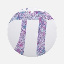 Pi Day Girly Paint Splatter Round Ornament