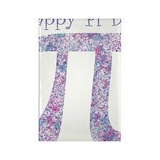 Pi Day Girly Paint Splatter Rectangle Magnet