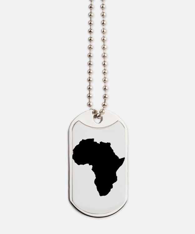 Shape map of AFRICA Dog Tags
