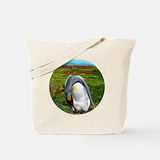 King Penguin cares for egg - Falkland Isl Tote Bag