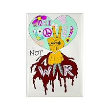 2-Make Love not WAr upload Rectangle Magnet