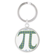 You Can Count on A Math Teacher Ret Round Keychain