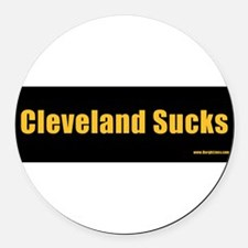 Cute Pittsburghese Round Car Magnet