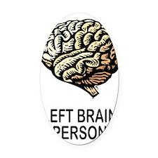 Left Brain Oval Car Magnet