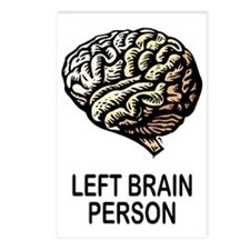 Left Brain Postcards (Package of 8)