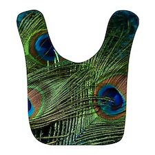 green feather square Bib