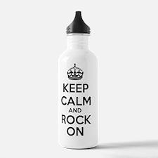 Keep Calm Rock On Water Bottle