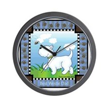 Best Westie Dad Wall Clock