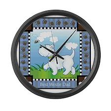 Best Westie Dad Large Wall Clock