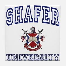 SHAFER University Tile Coaster