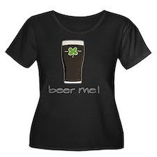 Beer Me Women's Plus Size Dark Scoop Neck T-Shirt