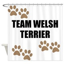 Team Welsh Terrier Shower Curtain
