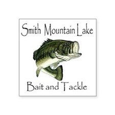 "LargemouthBass Square Sticker 3"" x 3"""