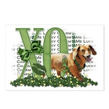 Doxie_Lucky_Charm_Trans Postcards (Package of 8)