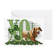 Doxie_Lucky_Charm_Trans Greeting Card