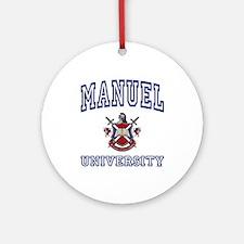 MANUEL University Ornament (Round)