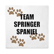 Team Springer Spaniel Queen Duvet