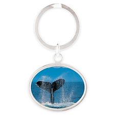 Humpback Whale Oval Keychain