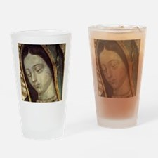 Our Lady of Guadalupe - close up Drinking Glass