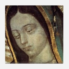 Our Lady of Guadalupe - close up Tile Coaster