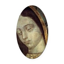 Our Lady of Guadalupe - close up Oval Car Magnet