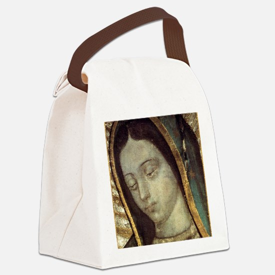 Our Lady of Guadalupe - close up Canvas Lunch Bag