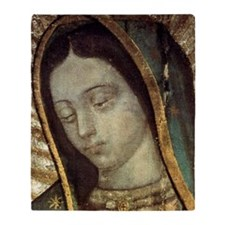 Our Lady of Guadalupe - close up Throw Blanket