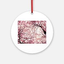 cherry blossoms full Round Ornament