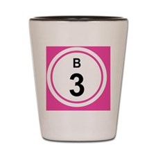 b3 BUTTON 2.5 Shot Glass