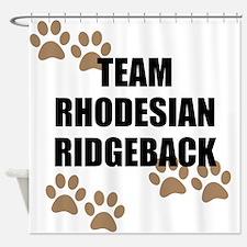 Team Rhodesian Ridgeback Shower Curtain