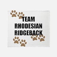 Team Rhodesian Ridgeback Throw Blanket