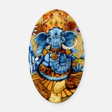 ganesh11x17 posters Oval Car Magnet