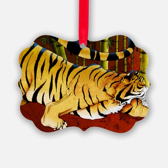 tigerbamboo11x17 posters Ornament