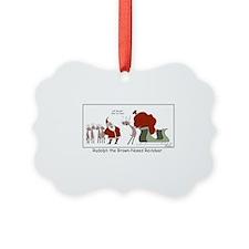 Brown Nosed Reindeer Ornament