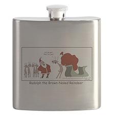 Brown Nosed Reindeer Flask