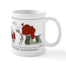 Brown Nosed Reindeer Mugs