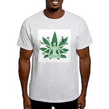 Ganja Girl Ash Grey T-Shirt