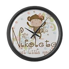 nikoleta Large Wall Clock