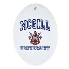 MCGILL University Oval Ornament