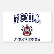MCGILL University Rectangle Decal