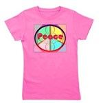 Abstract Peace Sign Girl's Tee