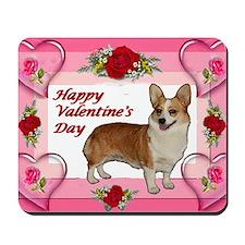 Valentine Dott Standing Heart  Roses car Mousepad