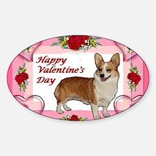 Valentine Dott Standing Heart  Rose Decal