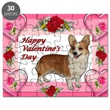 Valentine Dott Standing Heart  Roses card Puzzle