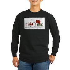 Brown Nosed Reindeer Long Sleeve T-Shirt