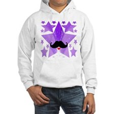Speak LOVE out loud moustache a Hoodie Sweatshirt