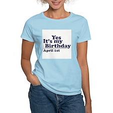 April 1 Birthday Women's Pink T-Shirt