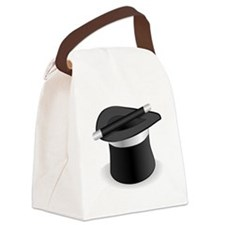 Magician Hat and Wand Canvas Lunch Bag