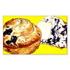 Blueberry Card Yellow Decal