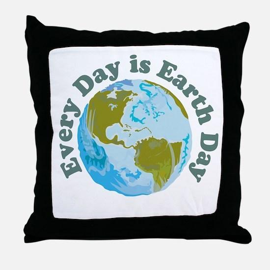 Earth_Button Throw Pillow